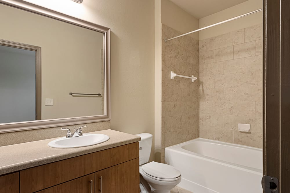 Bathroom at The Addison at South Tryon in Charlotte, North Carolina