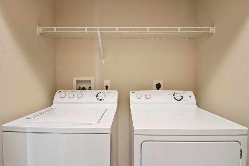 Laundry area at The Addison at South Tryon in Charlotte, North Carolina