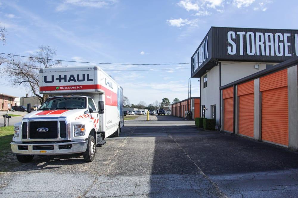 Truck rentals at Fort Knox Self Storage in Montgomery, Alabama.