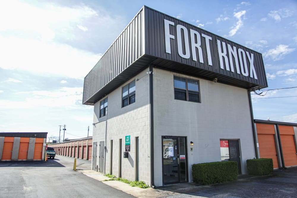 Exterior of the self storage facility at Fort Knox Self Storage in Montgomery, Alabama