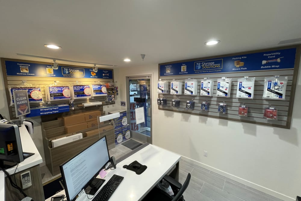 Rental office at Storage Solutions in Capistrano Beach, California