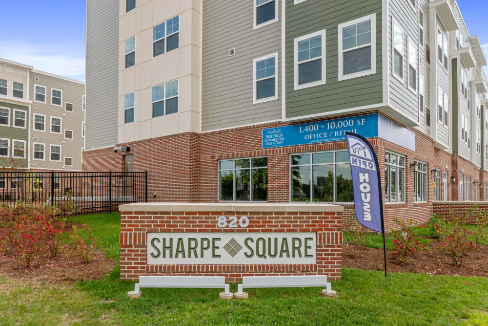 Exterior of The Apartments at Sharpe Square in Frederick, Maryland