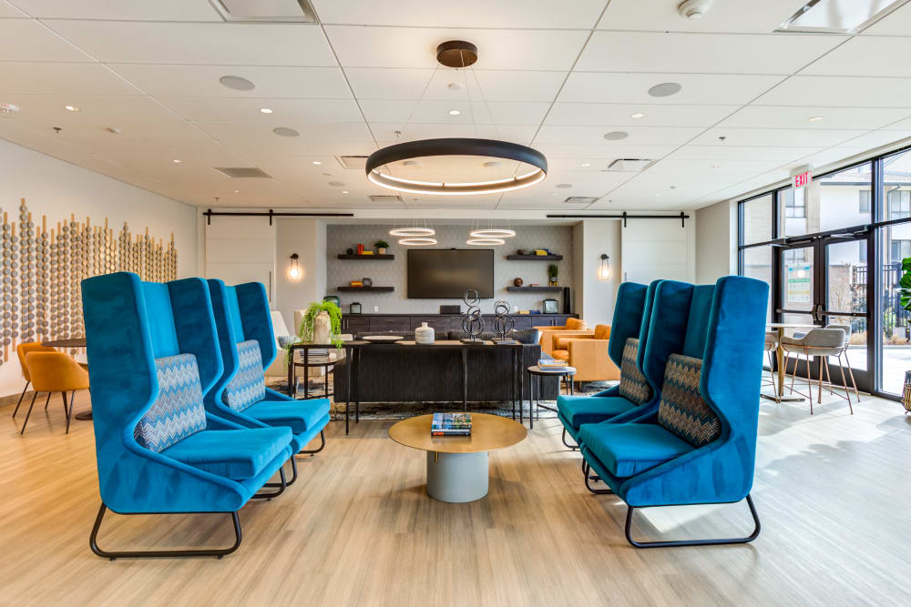 Additional clubhouse seating at Main Street Apartments in Rockville, Maryland