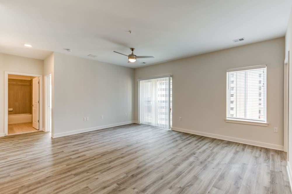 Hardwood floors at Main Street Apartments in Rockville, Maryland