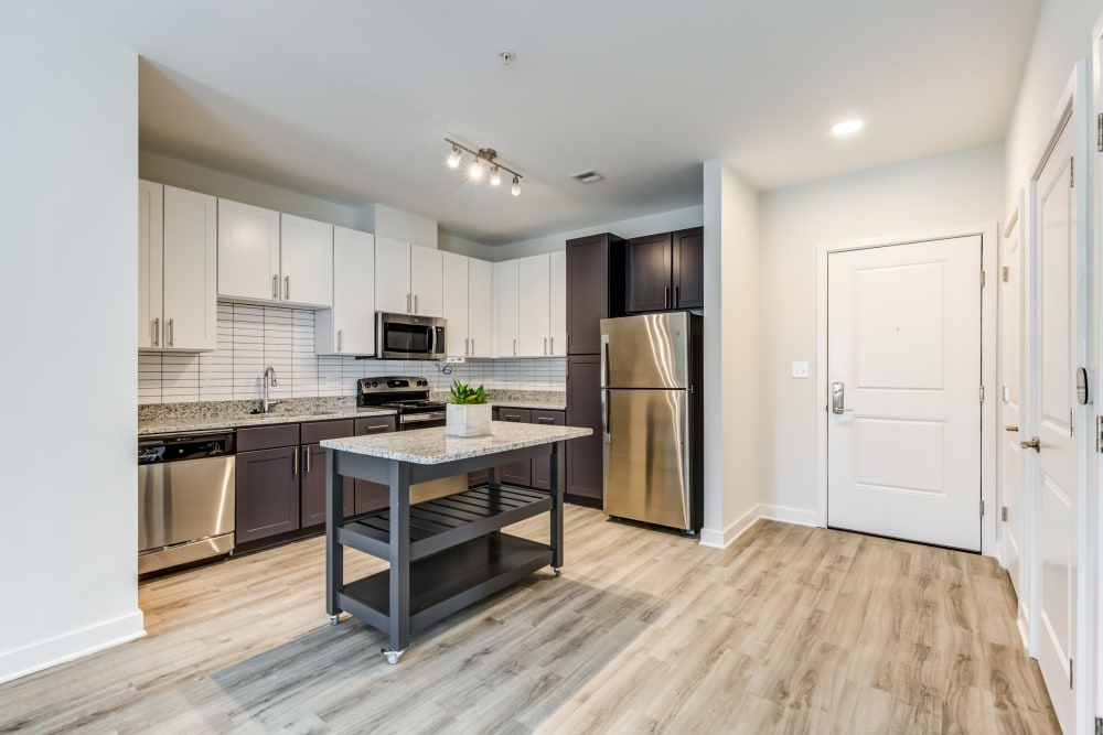 Apartment kitchen at Main Street Apartments in Rockville, Maryland