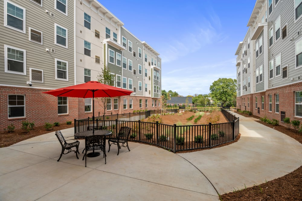 Courtyard at The Apartments at Sharpe Square in Frederick, Maryland