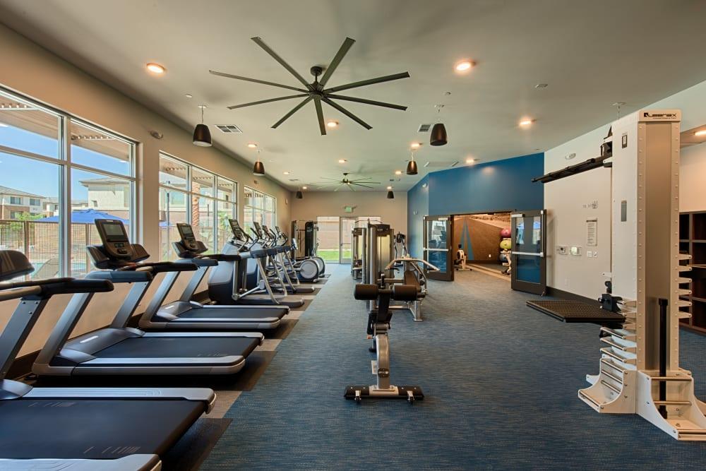 Fitness center for residents at Ocio Plaza Del Rio in Peoria, Arizona