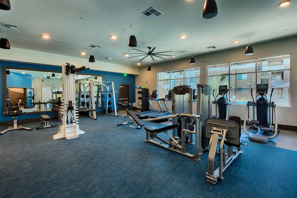 Fitness center at Ocio Plaza Del Rio in Peoria, Arizona