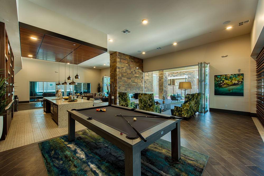 Game room at Ocio Plaza Del Rio in Peoria, Arizona