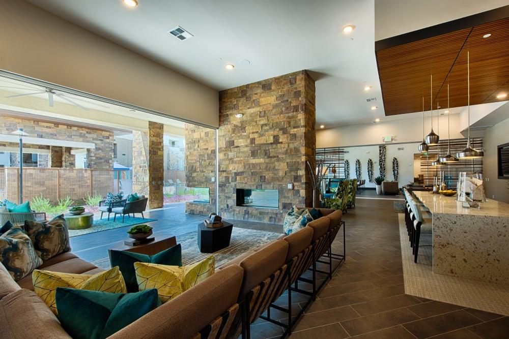 Luxury lounge at Ocio Plaza Del Rio in Peoria, Arizona