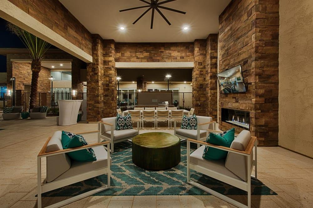 Comfy lounge in the clubhouse at Ocio Plaza Del Rio in Peoria, Arizona