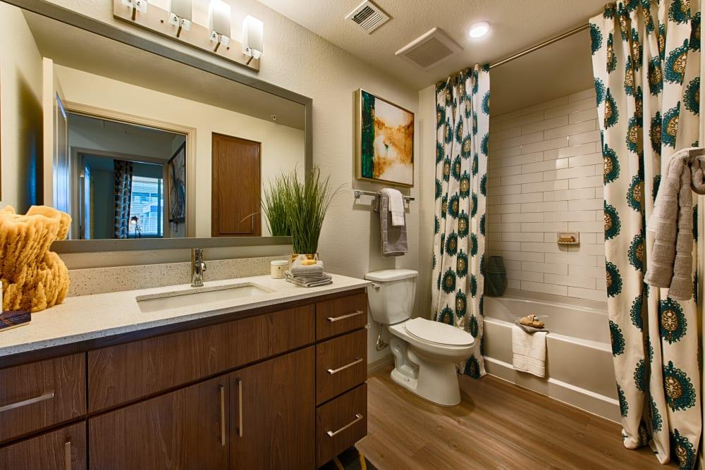 Spacious bathroom at Ocio Plaza Del Rio in Peoria, Arizona
