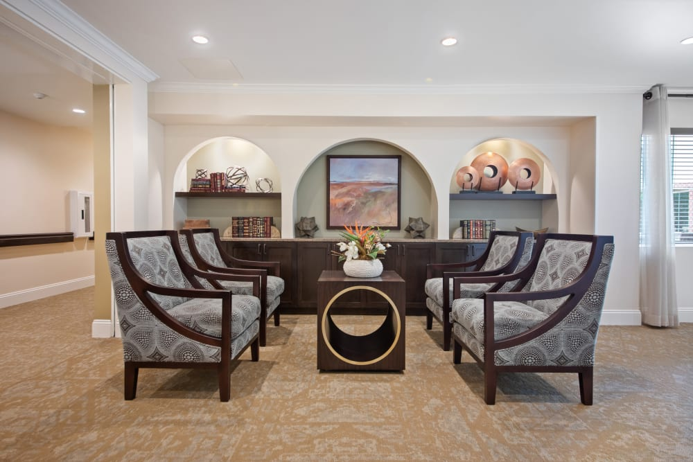 Private family dining room at Regency Palms Oxnard in Oxnard, California