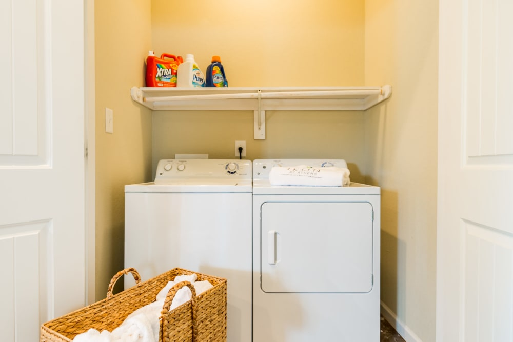 Onsite laundry machines for students at Ikon Athens in Athens, Georgia