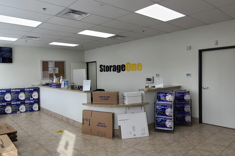 packing supplies at StorageOne Maryland Pkwy & Cactus in Las Vegas, Nevada