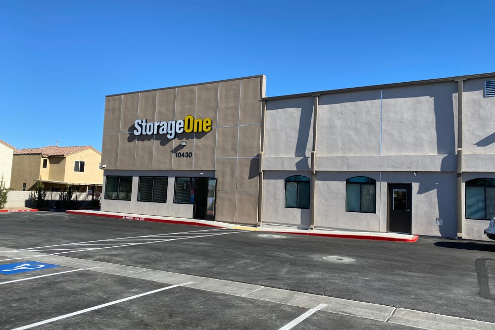 An exterior view of StorageOne Maryland Pkwy & Cactus in Las Vegas, Nevada