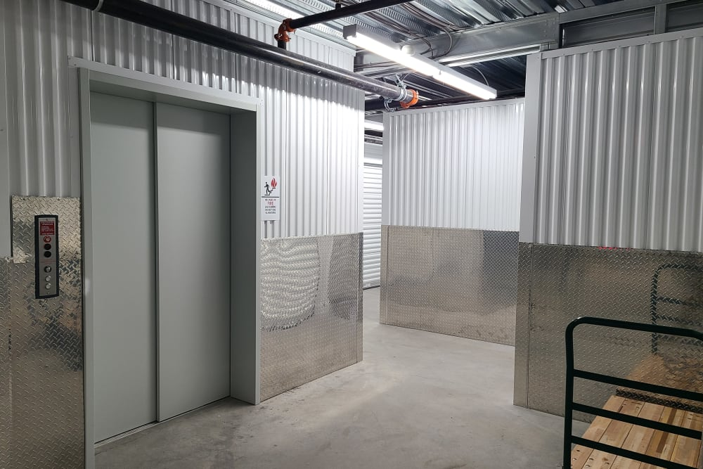 freight elevator at StorageOne Maryland Pkwy & Cactus in Las Vegas, Nevada