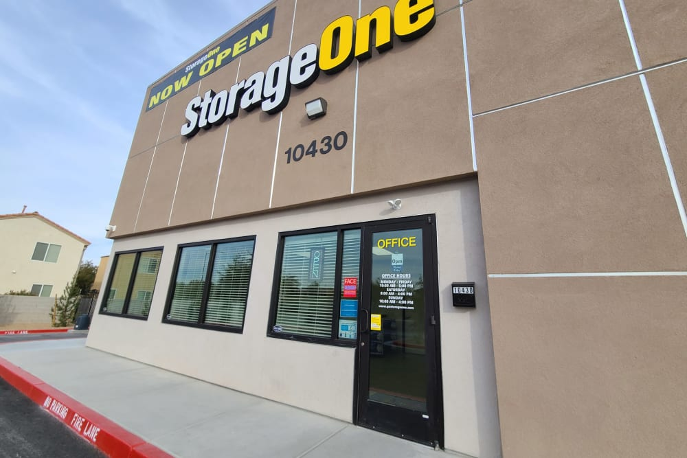 entrance at StorageOne Maryland Pkwy & Cactus in Las Vegas, Nevada