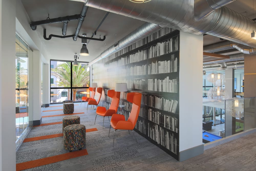 Study lounge area at University Park in Boca Raton, Florida