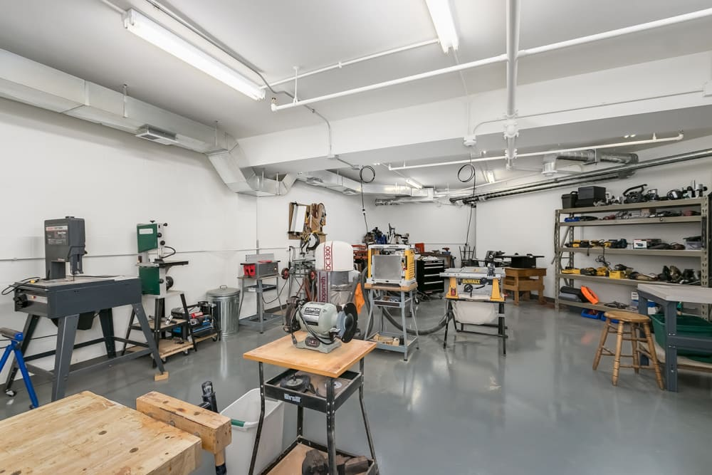 The woodshop at Applewood Pointe of Westminster in Westminster, Colorado