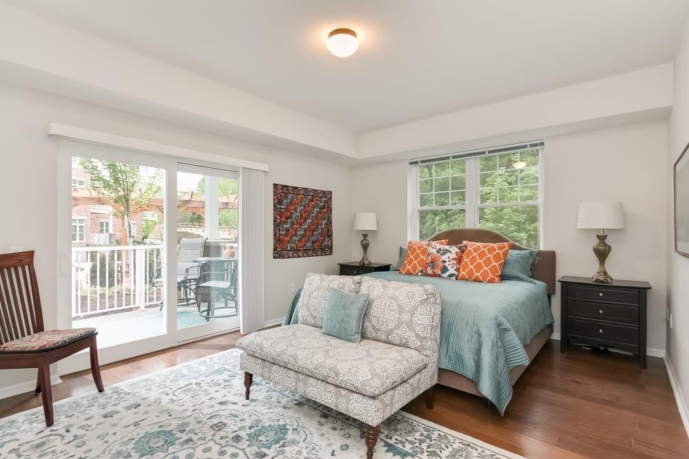 Resident bedroom at Applewood Pointe of Westminster in Westminster, Colorado.