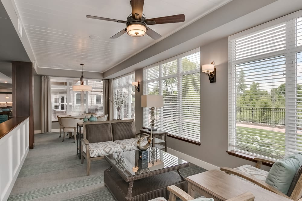 Sunroom at Applewood Pointe of Westminster in Westminster, Colorado.