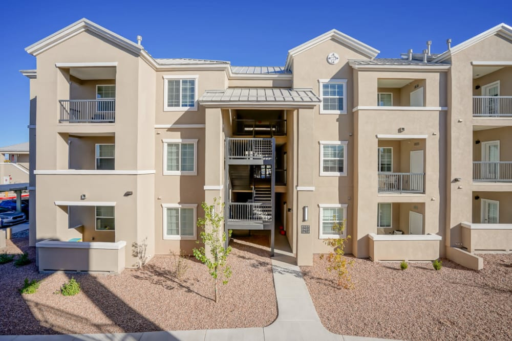 Exterior view of our luxury community at Olympus Rodeo in Santa Fe, New Mexico