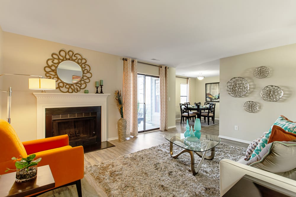 Living area in an apartment at Eagle Rock Apartments at Columbia in Columbia, Maryland