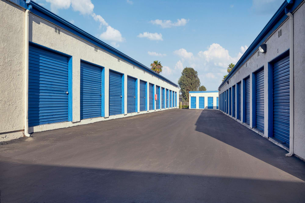 Outdoor storage at Stor'em Self Storage in San Marcos, California
