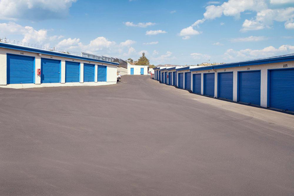 Outdoor storage at Stor'em Self Storage in Vista, California
