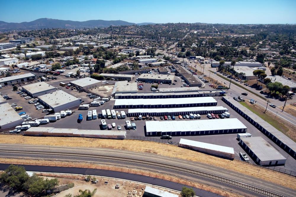 Second Aerial View at Stor'em Self Storage in Vista, California