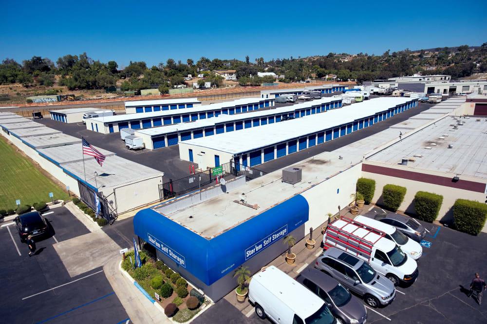 Aerial View at Stor'em Self Storage in Vista, California