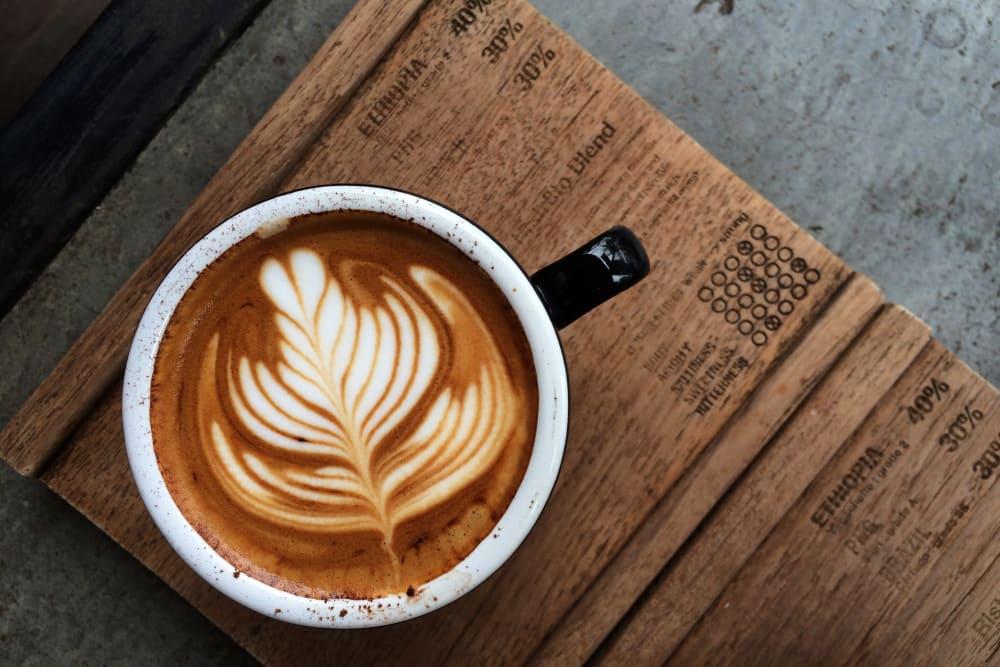 Creamy latte at Ellington Midtown in Atlanta, Georgia