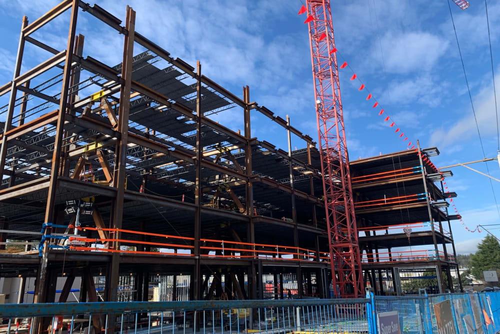 Construction happening at The Vista in Esquimalt, British Columbia