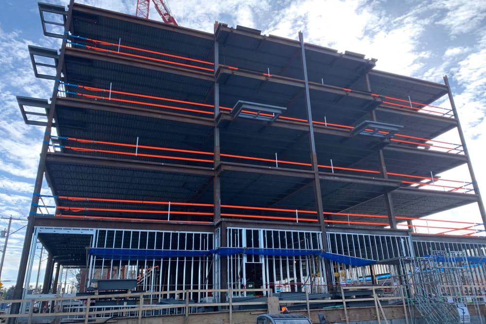 The Vista's building under construction in Esquimalt, British Columbia