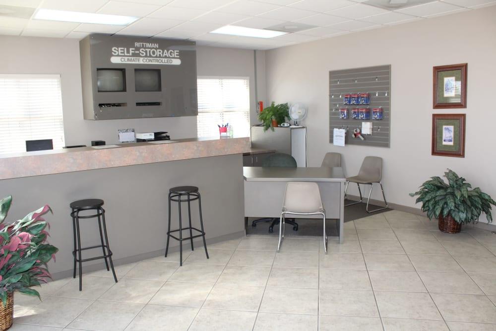 Office interior at Maximum Mini Storage Rittiman