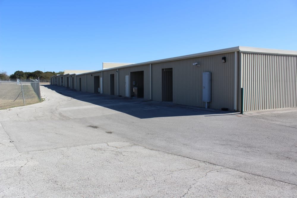 rear driveway access to storage buildings for storage at Maximum Mini Storage Rittiman