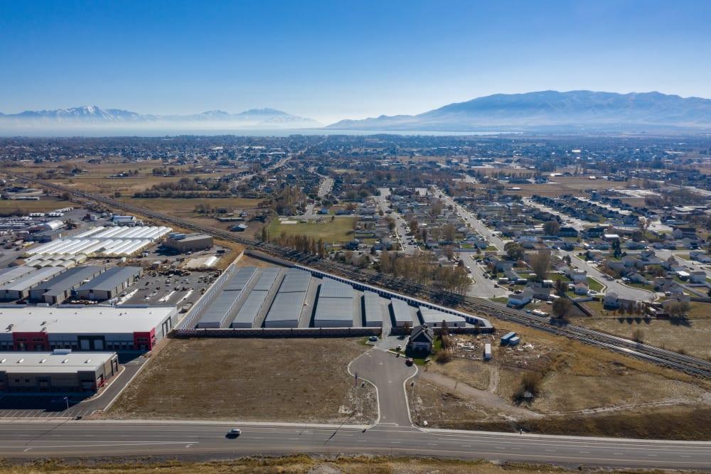 Aerial view of property at Stor'em Self Storage in Lehi, Utah