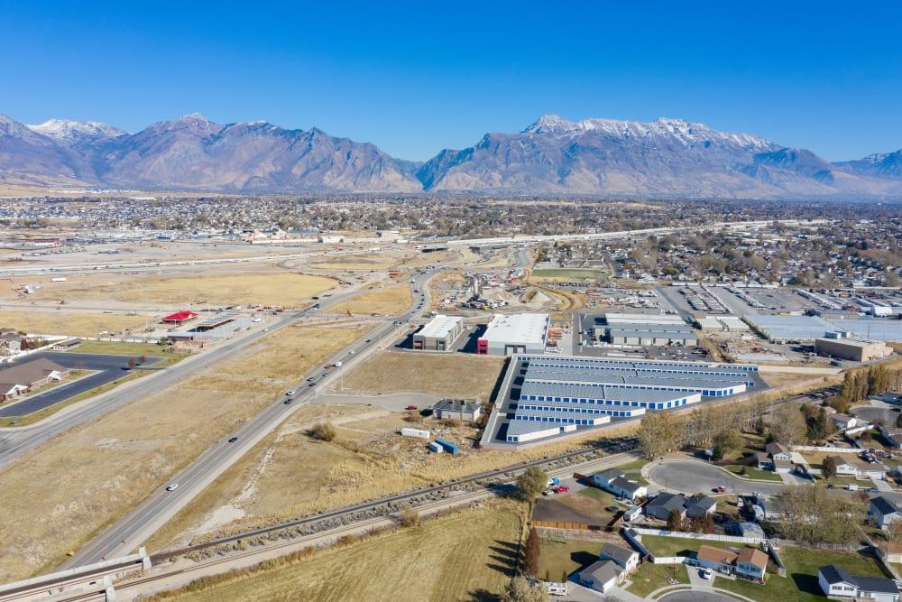Second Aerial view of property at Stor'em Self Storage in Lehi, Utah
