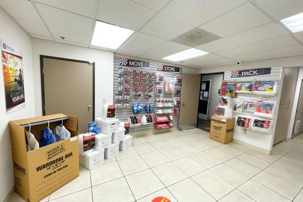 Packing supplies at Oxnard