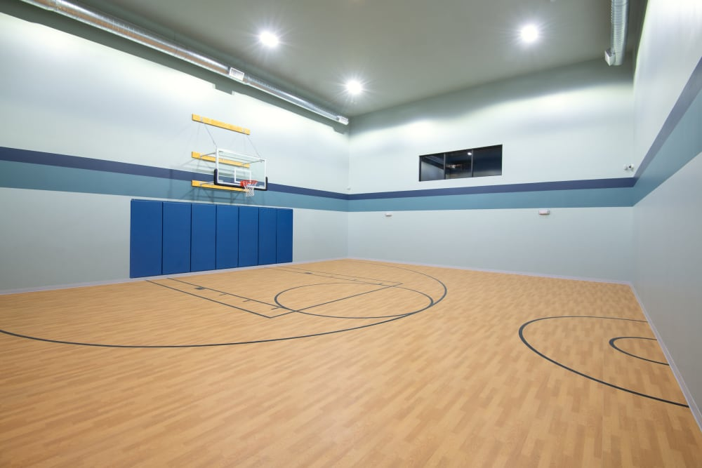 Rendering of the basketball court at The Crossing at Cooley Station in Gilbert, Arizona