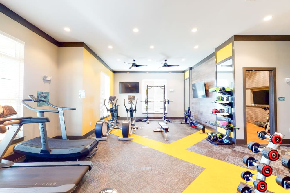 State of the art gym at The Palmer in Charlotte, North Carolina