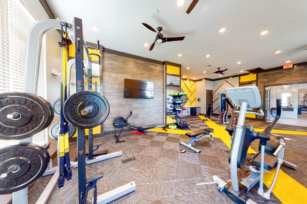 Fitness room at The Palmer in Charlotte, North Carolina