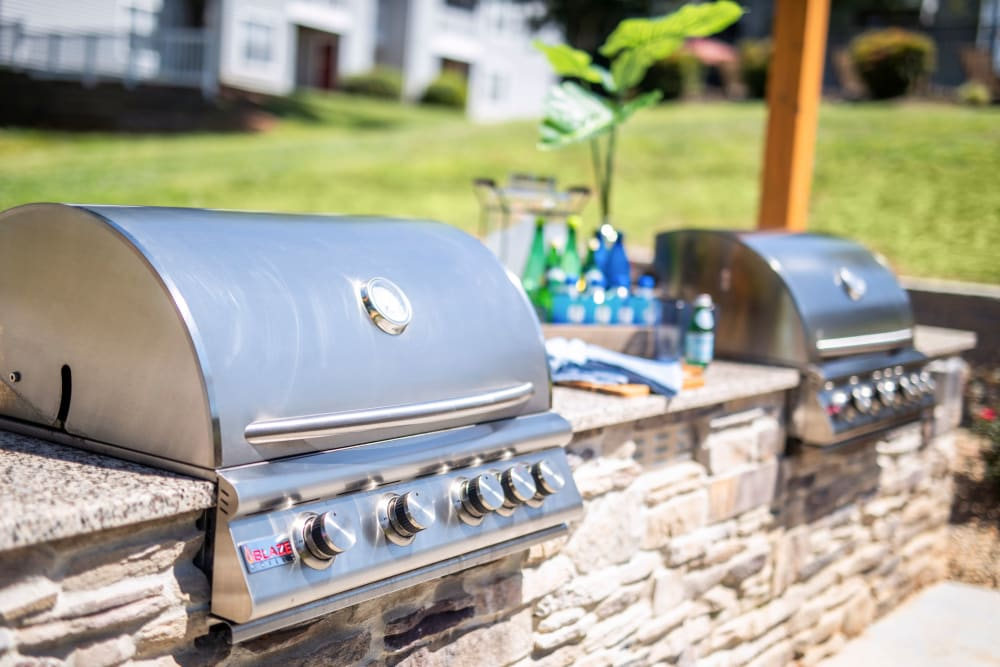 Two barbeque grills for resident use at 200 Braehill in Winston-Salem, North Carolina