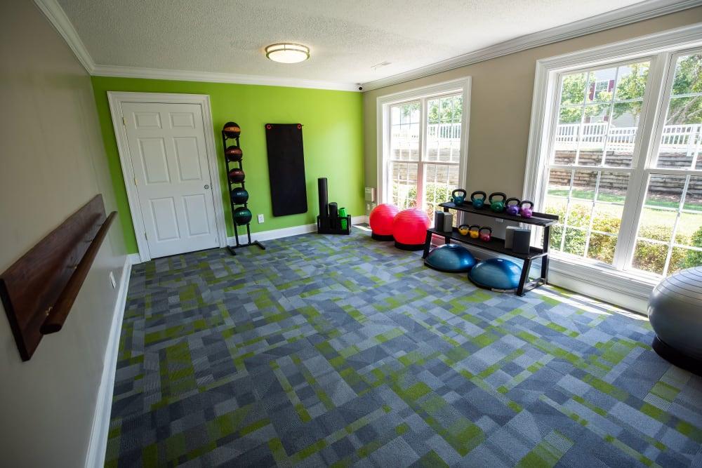 A yoga studio at 200 Braehill in Winston-Salem, North Carolina