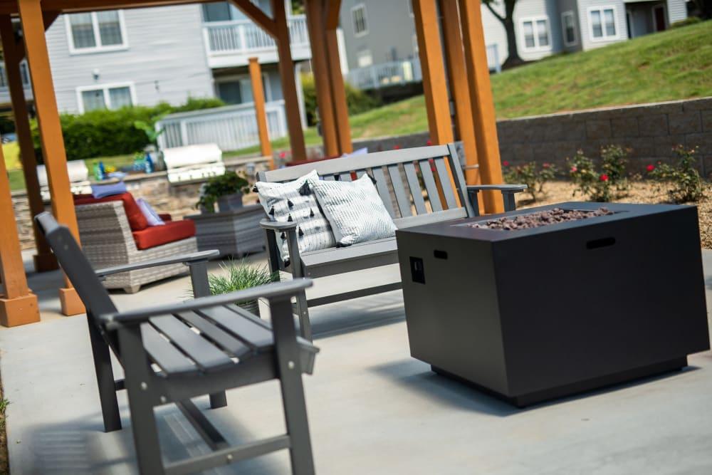 Plenty of outdoor seating at 200 Braehill in Winston-Salem, North Carolina