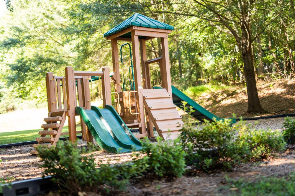 A children's playground with a slide at 200 Braehill in Winston-Salem, North Carolina
