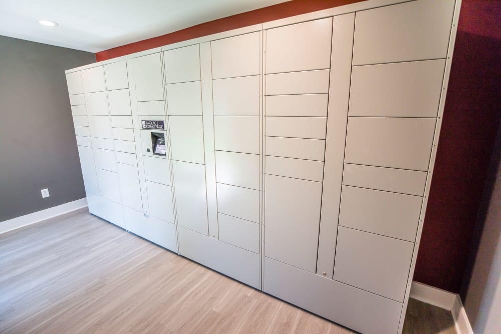 Storage lockers at 200 Braehill in Winston-Salem, North Carolina