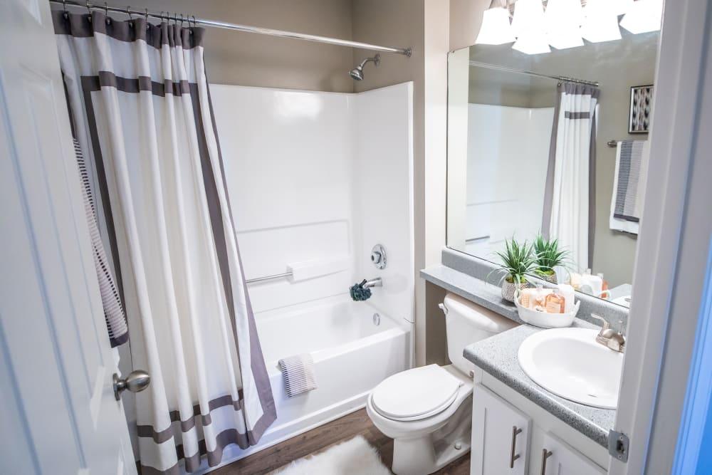 A bathroom with an oval tub at 200 Braehill in Winston-Salem, North Carolina