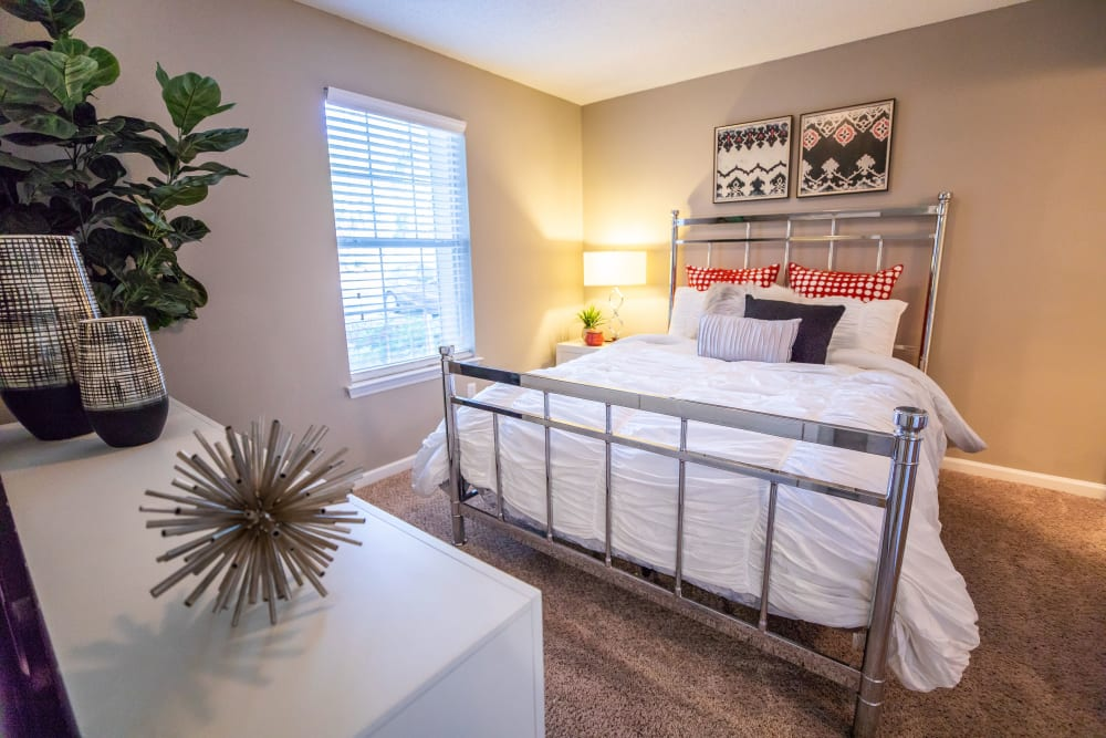 A large bedroom with a window at 200 Braehill in Winston-Salem, North Carolina